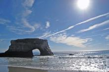 Natural Bridges Beach, California - Rock Bridge